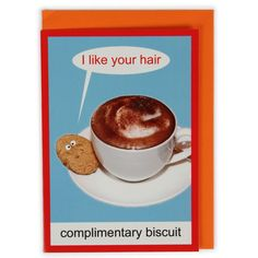 Complimentary biscuit card