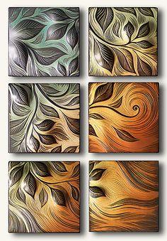 Vine Motif: Natalie Blake: Ceramic Wall Art | Artful Home