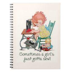 Journals: Just Gotta Sew Spiral Note Books