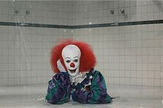 that scene where pennywise comes out of the shower drain