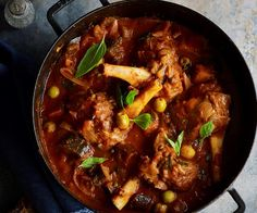 Lamb shanks and eggplant stew recipe - By Australian Women's Weekly, Nourish your family with this delicious lamb shank and eggplant stew.