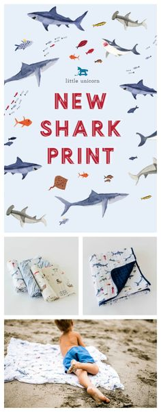 Check out our new Shark print! This print comes in a single swaddle, swaddle set, and quilts.