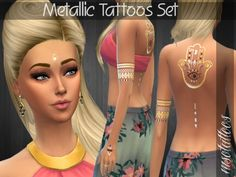 3 tattoos included (face, back and left arm). Found in TSR Category 'Sims 4 Accessories Sets'