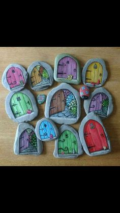These are the absolute most adorable painted rocks! If you love the painted rock. - rock-painting-ideas - These are the absolute most adorable painted rocks! If you love the painted rock trend and are maki - Rock Painting Patterns, Rock Painting Ideas Easy, Rock Painting Designs, Rock Painting For Kids, Kids Crafts, Diy And Crafts, Craft Projects, Garden Projects, Garden Ideas