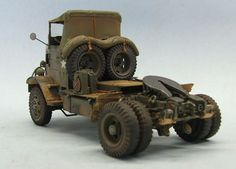 Autocar 7144T Tractor, 1/35 scale. By Marcos Serra #scale_model