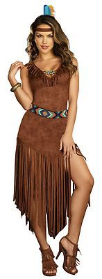 Sexy Native American Princess Indian Halloween Fancy Dress Costume | eBay