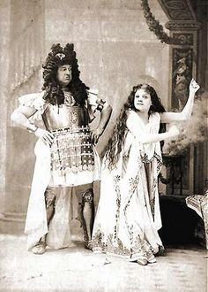 Image of Rutland Barrington and Ilka Palmay from the original production of The Grand Duke, 1896.