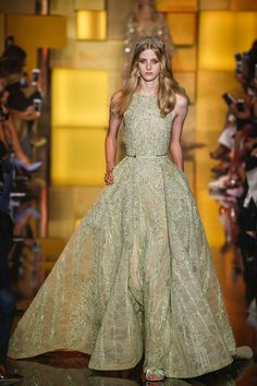 Elie Saab Fall 2015 Couture Fashion Show - Deva Reeb
