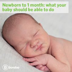A newborn's first weeks are full of eating, sleeping, pooping, and crying. Here are some things your baby will likely be able to do by one month old.