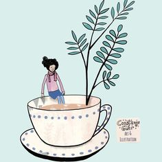 This is a part of the cover illustration of my newest book coming in spring #tealovers . . . . #illustration #illustrationoftheday  #drawing  #draweveryday #instaartist  #illustratorsofinstagram #art_we_inspire  #inspiration #makersmovement  #coffeelove #morningcoffee #artjournal #simplepleasure #constanzeguhr  #berlinillustration #bookillustration #book #bücherwurm  #bookcover