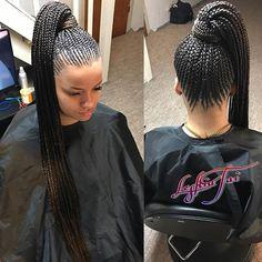 Sexy Nicki braids #hairstyles #healthyscalp #feedinsfly #nickininajbraids #hairislife #longbraids