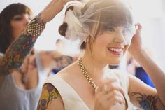 Love this tattoed bride and BM! :)   Rustic Californian Ranch Wedding: Heidi & Nathan
