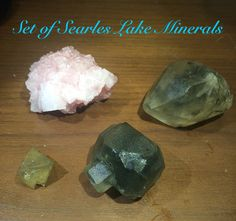 Set of Searles Lake Minerals Pink Halite, Barrel Hanksite, Hanksite and Sulphohalite Trona California 2015 #4 by Rt395Minerals on Etsy https://www.etsy.com/listing/223653774/set-of-searles-lake-minerals-pink-halite