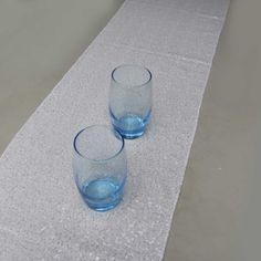 12''x72''/30cmx183cm Luxury White Sequin Table Runner Wedding Party Table Decoration Solid Color Table Runners
