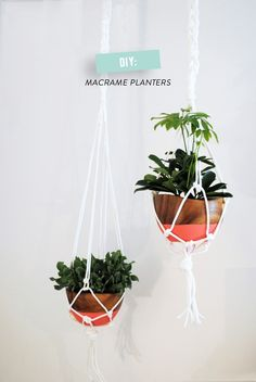 Macrame planters