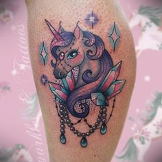 Amazing unicorn tattoo by the talented 😍🦄🌠 Girly Tattoos, Love Tattoos, Sexy Tattoos, Body Art Tattoos, Tatoos, Henna Designs, Tattoo Designs, Tattoo Ideas, Color Tattoo