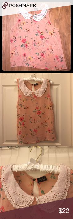 ⚡️Sale⚡️Audrey 3+1 Floral Top Beautiful floral tank! No damages or stains. In like new condition! Waist measurement: 35 inches. We are a pet free/smoke free home! Audrey 3+1 Tops Tank Tops