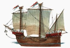 medieval cog with two masts - Google Search