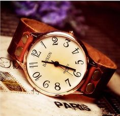 Main Features : 1. 100% Brand New Condition 2. Vintage Retro Style 3. 100% Handmade Studded Leather Band 4. Unique & Dedicate, Perfect for Gift...