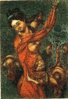 Anatomie des parties de la génération de l'homme et de la femme (1773) by Jacques Fabien Gautier D'Agoty.