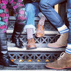 Our SF Creative office works it on the stairs! #wearpact #design #organic #socks #leggings