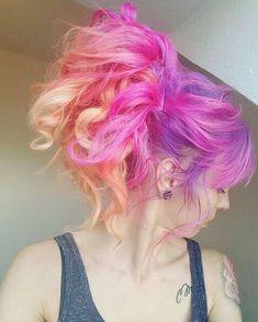 pastel colorful hair