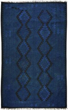 $5 Off when you share! Darya Rugs Kilim Mana Blue Rug   Southwestern Rugs #RugsUSA