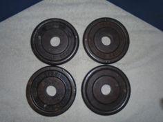Vintage York Bar Bell weights. York weights. Bar Bell weights #YORK