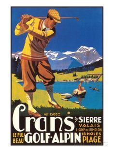 Alpine Golf Posters sur AllPosters.fr