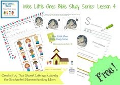 Wee Little Ones Bible Study Series Lesson 4 - Enchanted Homeschooling Mom Tot School, School Days, Sunday School, Kids Learning, Learning Activities, Tower Of Babel, Bible Study For Kids, Train Up A Child, Bible Crafts