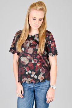 Vantage - Floral Scollop Top, £10.00 (http://www.vantagefashion.co.uk/floral-scollop-top/)