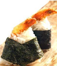 Recipe: Tenmusu, Prawn Tempura Omusubi Rice Ball 天むす. I want to make this.