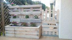 Jardinera-cierre con palets