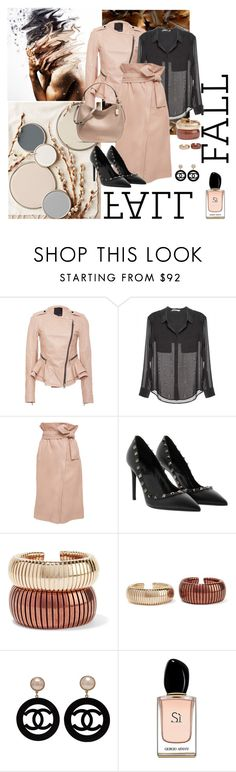 """""""Fall Neutrals of Fashion!"""" by kmaryk ❤ liked on Polyvore featuring Marissa Webb, T By Alexander Wang, Rosantica, Chanel, Armani Beauty and AmiciMei"""
