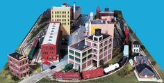 Gateway Central X 4x6-Foot Small HO Scale City Model Railroad Layout | Gateway NMRA