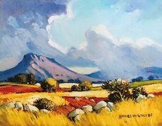 Hannes van der Walt - Sunny Fields and Rainy Skies | Landscape Art Fine Art
