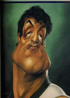 Sylvester Stallone Caricature    Words cannot describe how talented Sebastian Kruger is at drawing caricatures
