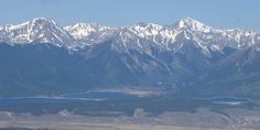 The view of Twin Lakes, Colorado from Mt. Sheridan. 5/28/12 http://coloradoguy.com/mount-sheridan/colorado.htm