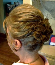 Mother of the groom curled updo