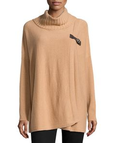 Cashmere Side-Buckle Poncho, Camel by Neiman Marcus at Neiman Marcus Last Call.