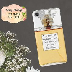 Chanel iPhone Case Coco Chanel Quote Custom Quote by ChezLorraines