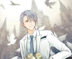 Viktor in his tuxedo waiting for the love of his life. So beautiful :'))