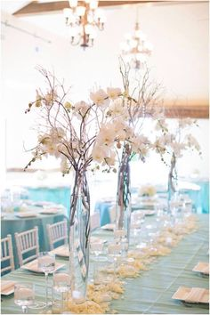 White Gorgeous Flowers with Vase For Gorgeous Beach Wedding