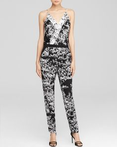 This black and white Diane von Furstenberg jumpsuit is a nice compliment to all the wrought ironwork inside the iconic Bradbury Building. #100percentbloomies @bloomingdales