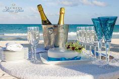 It's all about the details!  Secrets resorts offers adults-only luxury.  Perfect wedding or honeymoon location!  #SecretsMaroma #honeymoon #mexicowedding #maroma #beachwedding