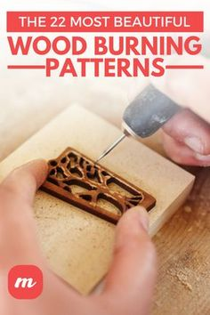 The 22 Most Beautiful Wood Burning Patterns There are plenty of wood burning books available for those looking for new projects, but if you're in the mood to start right away, you can find all kinds of free printable wood burning patterns online. Wood Burning Tips, Wood Burning Techniques, Wood Burning Crafts, Wood Crafts, Wood Burning Projects, Wood Craft Patterns, Wood Carving Patterns, Pyrography Designs, Pyrography Patterns