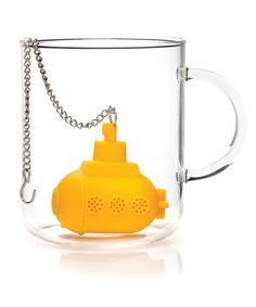 Tea & Submarine Infuser. How cute! Tea goes in the submarine.