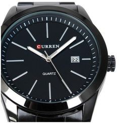 Classic Simple Curren Black Stainless Steel Luxury Date Clock Mens Wrist Watch 8091 Black/white by gokelly -- Awesome products selected by Anna Churchill