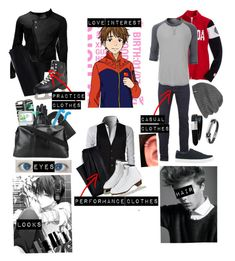 """""""Yuri!!! On ice oc 2"""" by gglloyd ❤ liked on Polyvore featuring Religion Clothing, Spyder, LE3NO, Lands' End, Dolce&Gabbana, Uniqlo, Marcelo Burlon, Wilsons Leather, Outdoor Research and MICHAEL Michael Kors"""
