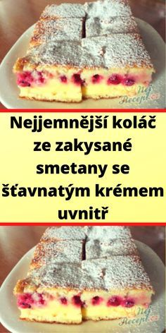 Czech Desserts, Mini Cheesecakes, Fruit Smoothies, Yummy Treats, Baking Recipes, Sweet Tooth, Bakery, Food And Drink, Pudding